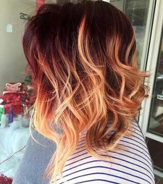 long bob com ombre hair Inverted Bob Hairstyles, Cool Hairstyles, Wedding Hairstyles, Hairstyles 2016, Latest Hairstyles, Pelo Guay, Hair Inspo, Hair Inspiration, Red Hair Don't Care