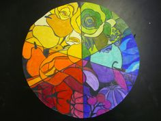 Color Wheel Art Projects | Example of finished color wheel in colored pencils.