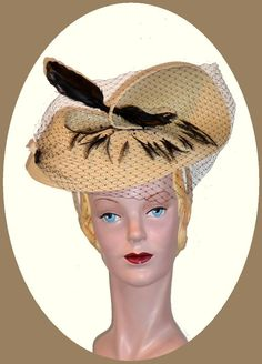 1940s Retro Hat 12. $62.00, via Etsy.