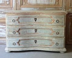 19th. Century Baroque style Chest of Drawers | From a unique collection of antique and modern commodes and chests of drawers at http://www.1stdibs.com/furniture/storage-case-pieces/commodes-chests-of-drawers/