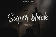 Super black   Bursh Font by Nursery art on @creativemarket