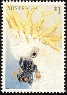 Sulphur-crested Cockatoo stamps - mainly images - gallery format