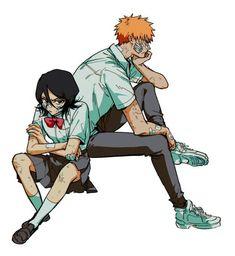 Ichigo X Rukia, Bleach Anime, Bleach Ichigo And Rukia, Bleach Fanart, Bleach Couples, Anime Drawings Sketches, Shinigami, Me Me Me Anime, Anime Characters