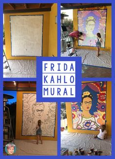Frida Kahlo mural on my Tucson home.