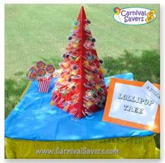 carnival-lollipop-tree-idea.jpg Paint as a Christmas Tree like the ones that your PreK student brings home made out of clay but this one made out of wood