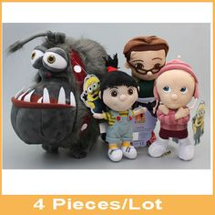 Find More Dolls Information about 4 Pcs/Lot Baby Toy Minions Despicable Me Agnes Edith Margo Kyle Gray Gru's Dog Bonecos Stuffed Plush Dolll Brinquedos Kids Gift,High Quality toy stilts,China toy joy sex toys Suppliers, Cheap gift distributor from Toys in the Kingdom on Aliexpress.com
