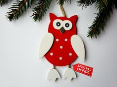 Holiday Decoration Holiday Ornament Christmas by WoodenLook