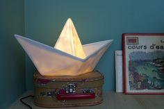 Goodnight Light | Paper Boat Lamp - Wit