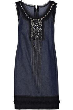 Wonder if I could make something like this from a long sleeveless denim jumper at a thrift store?