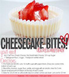 100 calorie cheesecake bites