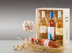 Contains 6 bottles of wines:  Blum Rosé Ebner Jázmin Arnold Rosé Jekl Rosé Ebner Borzongás (gyöngyöző bor) Blum Stoki (gyöngyöző bor)
