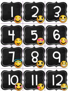 Kindergarten Classroom Organization, Classroom Design, Classroom Themes, Classroom Management, Chalkboard Calendar, Chalkboard Decor, Emoji Decorations, Teaching 6th Grade, Welcome To School