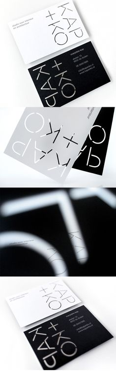 Black And White Laser Cut Business Card Design For An Architect