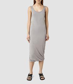 Womens Mae Midi Dress (LUNAR GREY) - product_image_alt_text_1