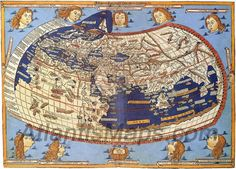 World Map According To Ptolemy Antique Map Historical Cartography Print PosterMuseum-quality posters made on thick and durable matte paper. Add a wonderful accent to your room and office with these posters that are sure to brighten any environment. Old Maps, Antique Maps, Vintage Maps, Vintage Prints, Jupiter Planeta, Map Globe, Islamic World, Historical Maps, Ancient Greece