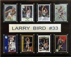 "Boston Celtics Plaque - Larry Bird 12""x15"" 8 Card"