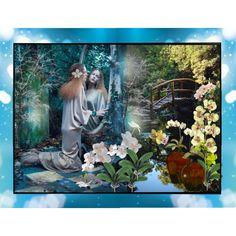 Bridge to Eden by melange-art on Polyvore featuring art
