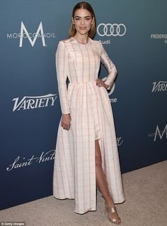 Mad for plaid: Jaime King, 36, showed off her post-baby body at Variety's Power of Women l...