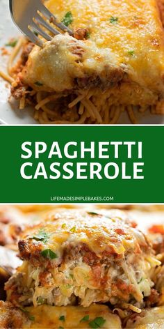 A casserole version of the classic dish this Spaghetti Casserole is filled with noodles cheeses sour cream ground beef and whole lot of flavor! Its a dinner recipe the whole family will enjoy. A casserole version of the cla Casserole Spaghetti, Cheesy Spaghetti, Beef Casserole, Spaghetti Recipes, Casserole Recipes, Spaghetti Pie, Italian Recipes, Beef Recipes, Cooking Recipes