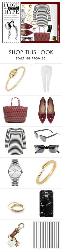 """Stripe Shirt Look - Plus Size"" by virtudiaries ❤ liked on Polyvore featuring Argento Vivo, Marina Rinaldi, Goyard, Charlotte Olympia, Betty Barclay, xO Design, A.J. Morgan, Rado, Jennifer Meyer Jewelry and Casetify"