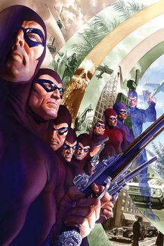 Comic Book Archive: The Dynamite Art of Alex Ross The Many Ages of the Ghost who walks. The Phantom. Comic Book Artists, Comic Book Characters, Comic Book Heroes, Comic Artist, Comic Character, Comic Books Art, Alex Ross, Marvel Fanart, Marvel Dc