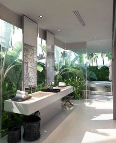 Cute decorating ideas for small bathroom windows for 2019 Zen Bathroom Decor, Bathroom Spa, Bathroom Interior Design, Bathroom Designs, Balinese Bathroom, Zen Bathroom Design, Bathroom Ideas, Asian Bathroom, Natural Bathroom
