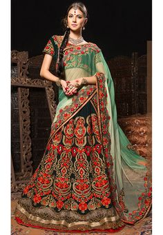 """""""The fate of your #heart is your choice and no one else gets a vote"""" Black #Color Velvet Designer #Lehenga Choli"""