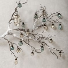 ornaments from bare branches