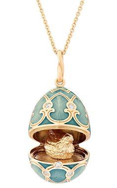 Faberge Palais Tsarskoye Selo Pendant Turquoise Locket #fabergé #pendants