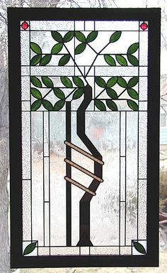 frank lloyd wright stained glass tree of life | ... to another of ...