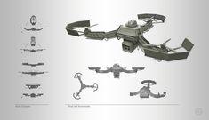 ArtStation - GRFS Drone Concept, Andrew Bosley