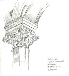 Details of a baroque column of BSNL headquarters, Bombay