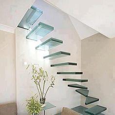 Şeffaf cam merdiven tasarımı.. / The transparent glass stair design..