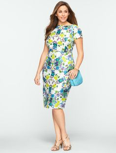 Talbots - Mirrored-Floral Dress | Dresses | Woman