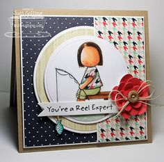 Hand Stamped Greeting Card  Youre A Reel Expert by Kharmagirl1974, $6.50
