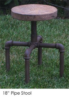"""18"""" Pipe Stool 