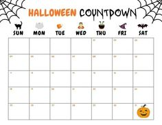 Print out the Halloween Countdown Calendar page and hang it up on your wall, so you can add the cobwebs with the passing of each day. See more party ideas and share yours at CatchMyParty.com #catchmyparty #partyideas #freeprintable #halloweencountdowncalendar #printablehalloweencountdowncalendar Halloween Bingo Cards, Halloween Countdown, Halloween Party Favors, Halloween Celebration, Halloween Activities, Family Halloween, Halloween Ideas, Countdown Calendar, Calendar Pages