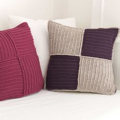 Ribbed Crochet Cushion Cover Pattern