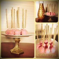 Beautiful Cakepops for a Princess Birthday