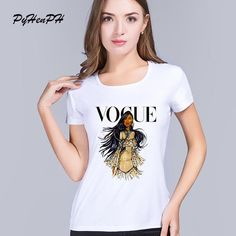 bf2e788cbd PyHenPH Summer Brand T-shirt Women Fashion VOGUE Princess Printed T Shirts  Female Tops Short