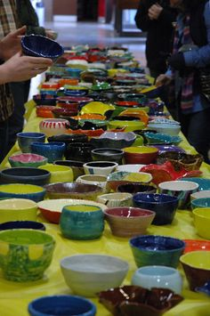 Bowl o' Arts Fundraiser for HS Art Department during YOUTH ART MONTH includes art show, food and music!