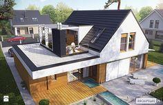Projekt domu Neo G1 ENERGO - widok z góry - zdjęcie od Pracownia Projektowa ARCHIPELAG