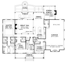 Craftsman house plan by a Washington State designer. The plan includes large master bathroom and closets. Two Story House Plans, Two Story Homes, New House Plans, Dream House Plans, House Floor Plans, Craftsman Style House Plans, Country House Plans, Farmhouse Plans, Farmhouse Design