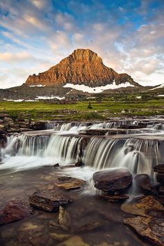 Reynolds Creek & Mountain, Glacier National Park, Montana