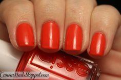Essie - Geranium; red-orange in color
