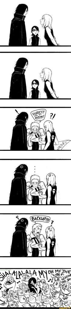 naruto, sasuke, sakura, sarada, shin