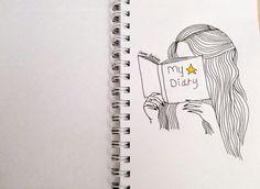 #артбук #скетчбук #artbook #sketchbook #girl #mydiary