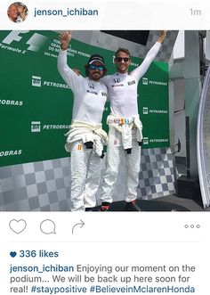 Jenson Button and Fernando Alonso climbed onto the top step of the podium after a terrible...
