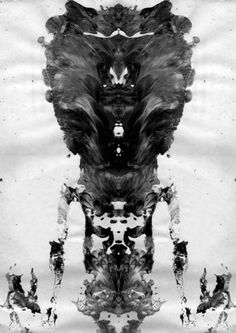 I like this image because it shows how we react to symmetry psychologically. Everyone who looks at this image will see something, perhaps a lion face or a flower, but in reality it is just a mirrored pattern.