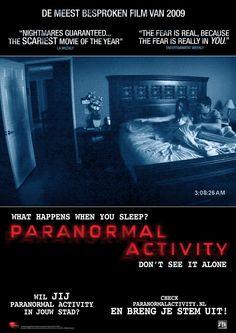 """"""" Atividade Paranormal"""". Realmente...não veja sozinho, ainda mais se for de madrugada!#medo"""
